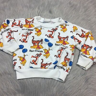 Vintage 90s Disney Store Winnie The Pooh Tigger Toddler Sweater 3T
