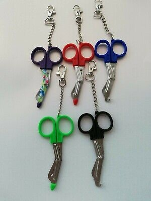 Small Tuff Cut Scissors On Keyring - Purple Or Green - Shears - Emt Medical