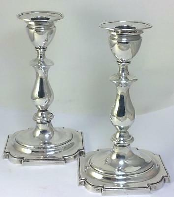 Pair of Antique Edwardian hallmarked Sterling Silver 19.5cm  Candlesticks – 1903