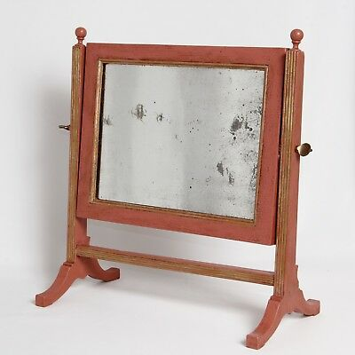 Georgian Swing Mirror Annie Sloan Paint Refinished Antique c.1820 17.5 in H