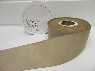 3mm 6mm 10mm 16mm 22mm 38mm 50mm LIGHT GOLD Grosgrain Ribbon Double Sided Ribbed