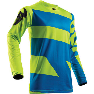 Thor Pulse S18 Jersey Lime/blue Jersey Off Road Motocross