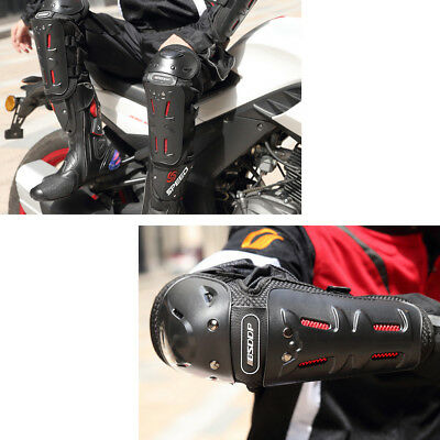 BSDDP 4 Motocross Motorcycle Cycling Elbow Knee Pads Guard Protective Gear LJ4