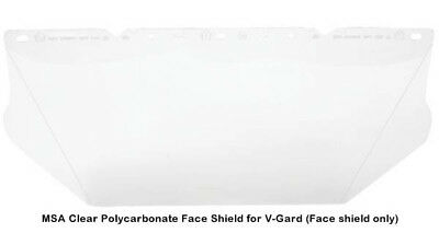 MSA V-Gard Clear Polycarbonate Face Shield for MSA Full Brim Slotted Adapter