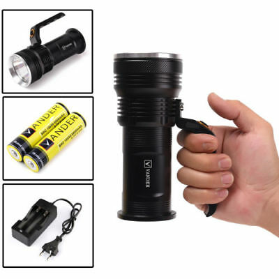 12000LM 3 modes Vander XM-L T6 LED Handheld Rechargeable Taschenlampe Flashlight