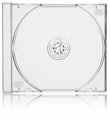 100 Standard 10mm Jewel CD Cases with CLEAR Tray SINGLE Disc 10.4mm case SCT PO