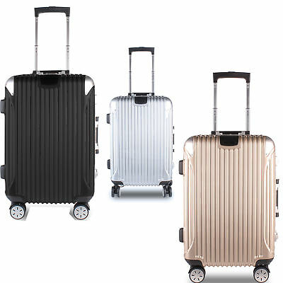 """Moxeay 20"""" Carry-on Luggage Travel Business Suitcase ABS+Aluminum frame Trolley"""