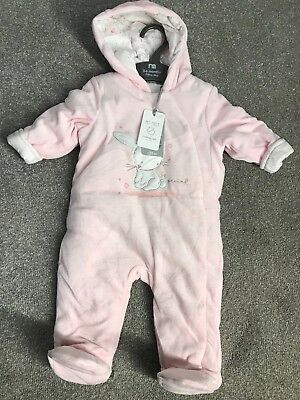 Mickey Mouse Baby Snow Suit boys girls velour new 3-6 months Disney