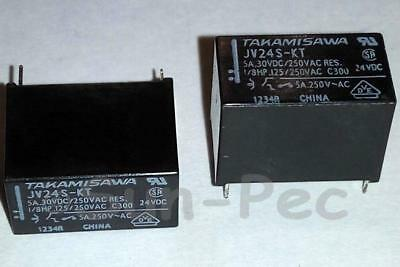 FUJI JV-24S-KT POWER RELAY Medium Load Control JV24SKT 4Pin 5A 300mW 5pcs New