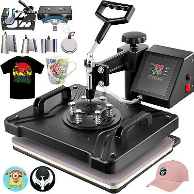 8In1 T-Shirt Heat Press Transfer Sublimation New Machine Latte Mug Printer