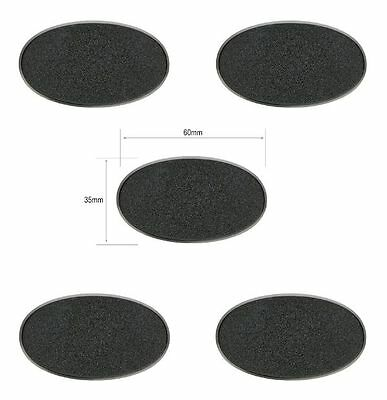 5x 60mm x 35mm oval base Games Workshop brand 40k age of sigmar