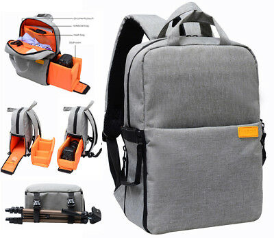 New Camera Backpack Bag Case with Waterproof Cover for Canon Nikon Sony DSLR