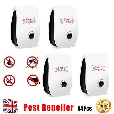 Pest Control Whole House Electronic Rat Mouse Mice Mosquito Repeller Plug in X4