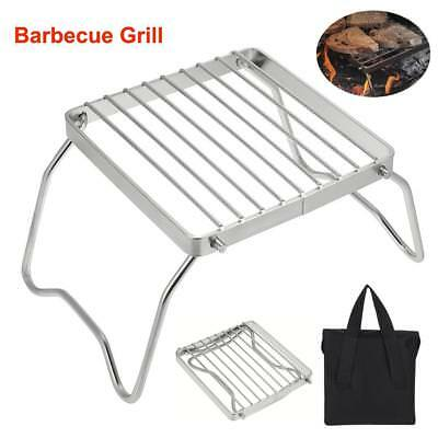 Foldable Portable Camping Travel BBQ Barbecue Cook Grill Stand W/ Storage Bag SG