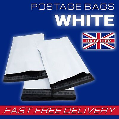 Strong Quality Off WHITE Plastic Mailing Postage Bags Poly Post Mail ALL SIZES