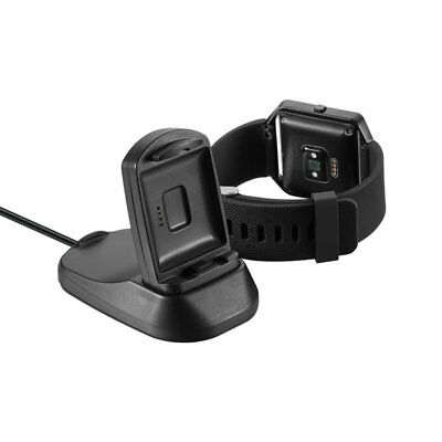 2 in1 USB Charging Cable Cradle Dock Charger For Fitbit Blaze & Phone Holder EG