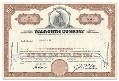 Walworth Company Stock Certificate (Stilson / Monkey Wrenches)