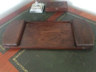 Lovely Antique Vintage Wooden Tray Desk Tidy Office Organiser Treen