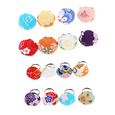 Cute Needle Pin Cushion Sewing Tool Kawaii Style DIY Alloy Ring Random Color