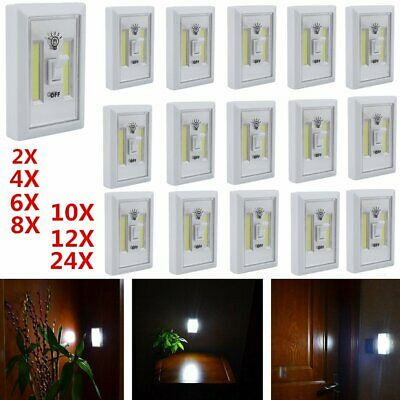 Cob Led Night Light Switch Cordless/wireless Multi Purpose Brand New Lot Be2