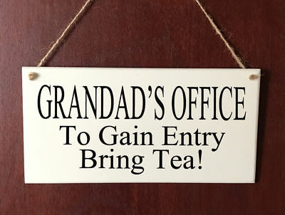 Personalised DELUXE Plaque Grandad Dad Uncle Brother Office Birthday Gift Tea