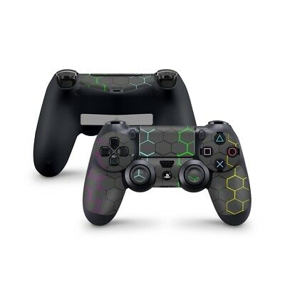 Playstation 4 PS4 Controller Skin - auch Pro - Design exo-black-Rainbow
