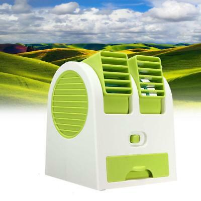 Portable Mini Air Conditioner Cool Fan Rechargeable USB for outdoor car Green FT
