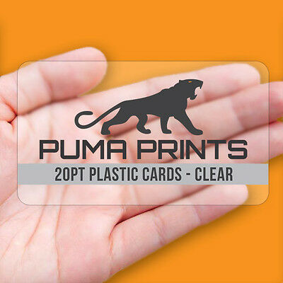1000 Full Color 20pt CLEAR PLASTIC Business Cards - Rounded Corners!