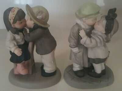 Enesco Set Of 2 Figurines We Ve Only Just Begun I Promise We Will Be Together