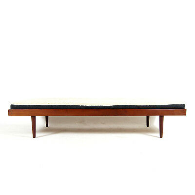 Retro Vintage Danish Teak Daybed Single Sofa Bed Studio Couch 1950s Scandinavian