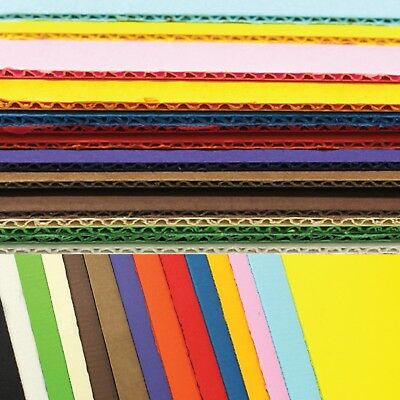 Double side face Corrugated paper, Colored corruggated cardboard_1color,5PCS