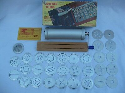 Vintage Nordic Ware Cookie King Spritz Gun Press Decorator Orig Box +Xtra Discs
