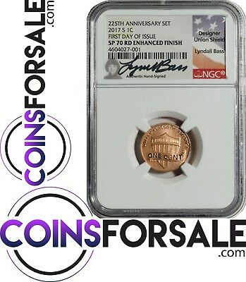 2017 S First Day SP70 RD  Penny signed by Lyndall Bass, Rarest Penny ever