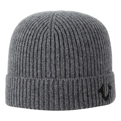 ed7ff773d TRUE RELIGION RIBBED Knit Watch Cap Charcoal Heather/Black - $70.00 ...