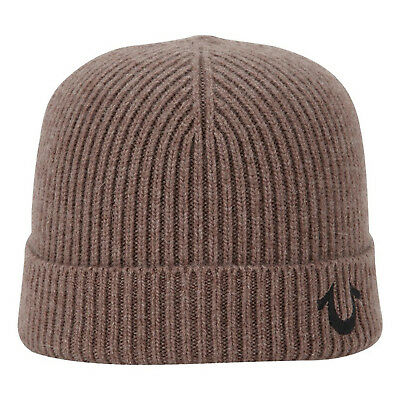 TRUE RELIGION RIBBED Knit Watchcap Beanie Unisex Mud Brown -  42.00 ... 6709897a5efe