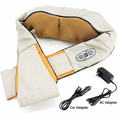 Shiatsu Back Health Care Neck And Shoulder Massager With Heat 3D Kneading Pillow