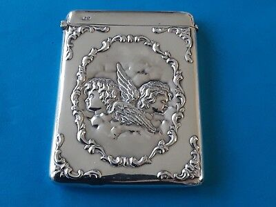 Fabulous Solid Silver Card Case  Chester 1905