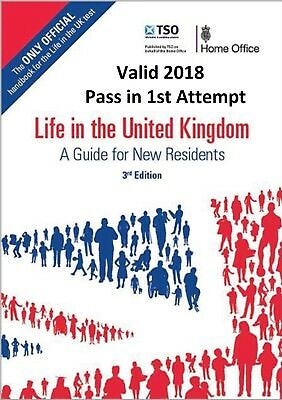 Life in the UK 3rd Edition, For 2018 - PDF + Audio MP3, Guidance, Tips, Practice