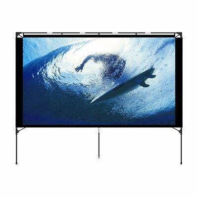 Outdoor Projector Screen with stand, Easy Setup Portable Outdoor Movie Screen