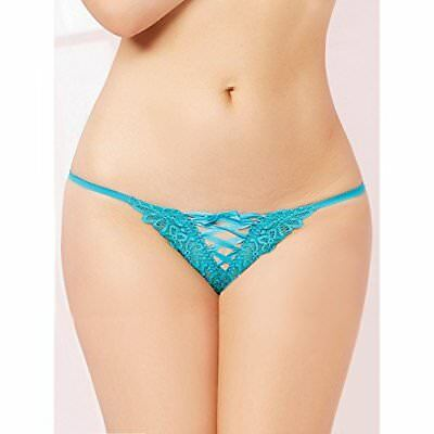 (TG. M) blu Seven Til Midnight: Tropical Galloon Lace Perizoma, colore: turchese