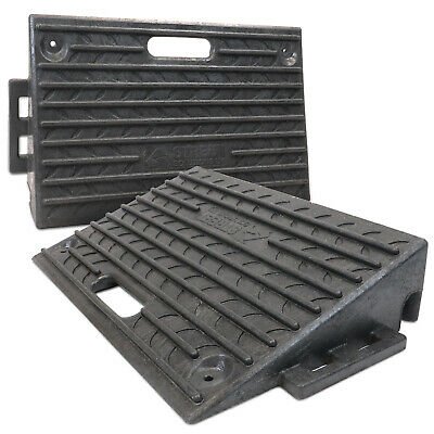 2 X Rubber Kerb Access Ramps for Cars Caravans Wheelchair Mobility - BRAND NEW