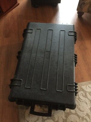 """Wheeled Pelican/Storm Style Military hard case 30x19x12""""with foam larger- Im2950"""