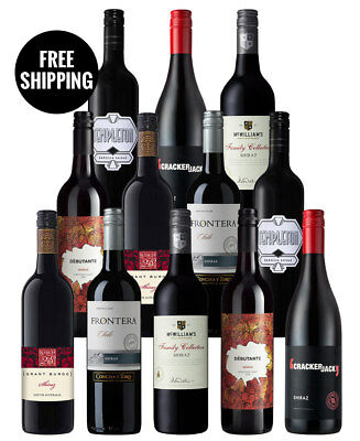 Shiraz Red Wine Heroes Mix (12 Bottles)