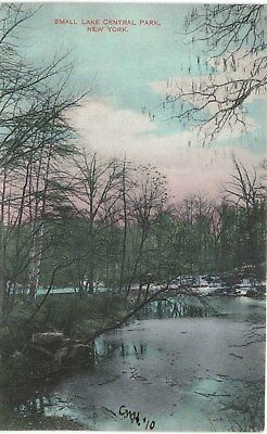 New York City NYC Central Park Small Lake Uncommon 1910