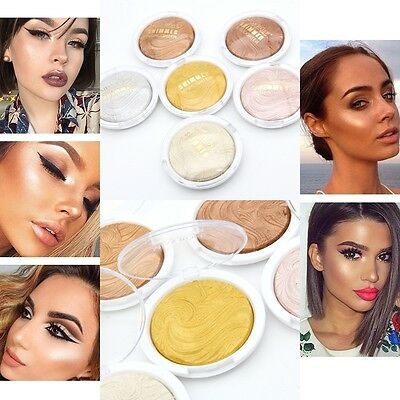 6 Colors Shimmer Contour Powder Highlighter & Bronzer High Light Cosmetic Pop