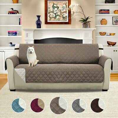 Sofa Cover Removable Pet Kids Cat Dog Quilted Couch Protect