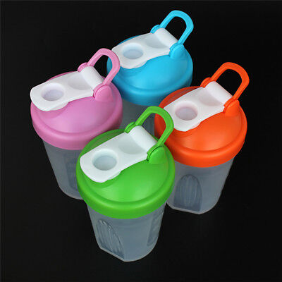 Portable 400ml Shake Protein Shaker Mixer Cup Potable Drink Whisk Ball Bottle