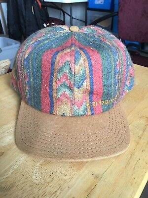 NEW Vintage Carhartt Hat Hard Working Cap 80s or 90s USA Snapback FREE  SHIPPING 18de54c293b
