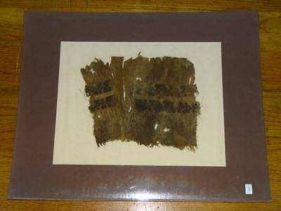 Ancient EGYPTIAN COPTIC TEXTILE-WEAVING FRAGMENT FABRIC Pc. 300 AD~CHRISTIAN ART