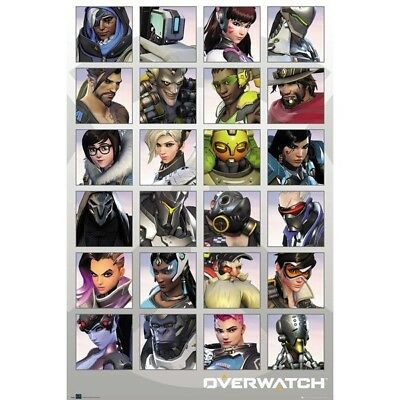 Overwatch - Character Cast Poster #1B